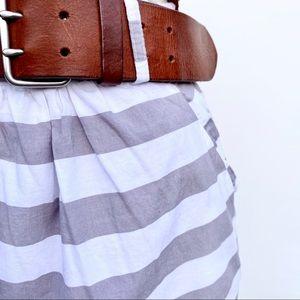 DownEast Grey and White Nautical Stripe Skirt